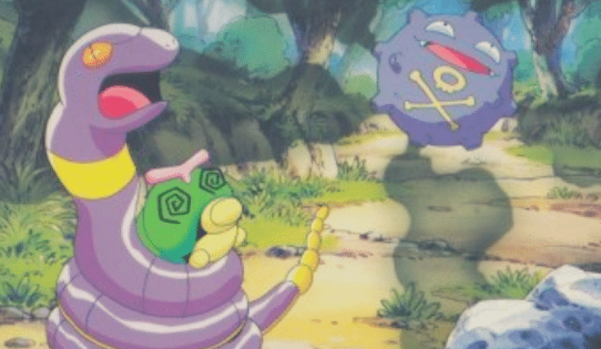 Ekans, Caterpie and Koffing